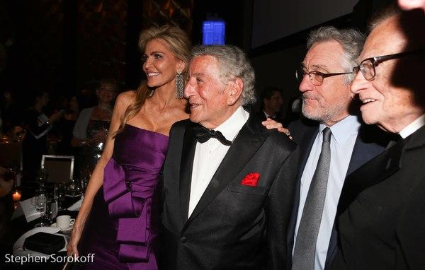 Shawn King, Larry King, Robert De Niro, Larry King Photo