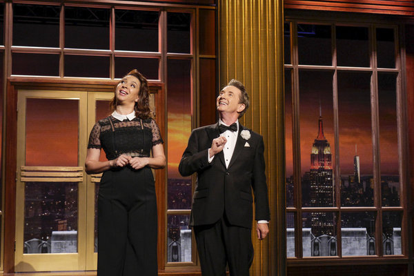 MAYA & MARTY -- Episode 104 -- Pictured: (l-r) Maya Rudolph, Martin Short during the Opening Monologue on June 21, 2016 on June 21 2016 -- (Photo by: Steve Fenn/NBC)