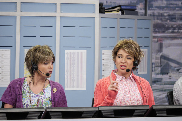 "MAYA & MARTY -- Episode 104 -- Pictured: (l-r) Cecily Strong, Maya Rudolph during the ""I Hate Stacey"" sketch on June 21, 2016 -- (Photo by: Steve Fenn/NBC)"