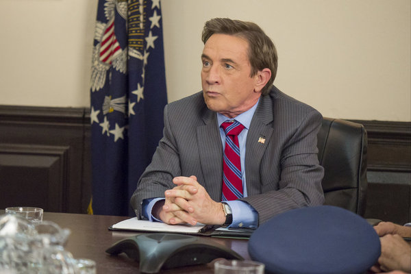 """MAYA & MARTY -- Episode 104 -- Pictured: Martin Short as the President of the United States during the """"Everyone Poops"""" sketch on June 21, 2016 -- (Photo by: Steve Fenn/NBC)"""