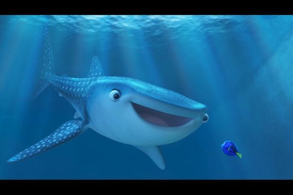 Kaitlin Olson voices Destiny, Dory's close friend who happens to be a near-sighted whale shark.