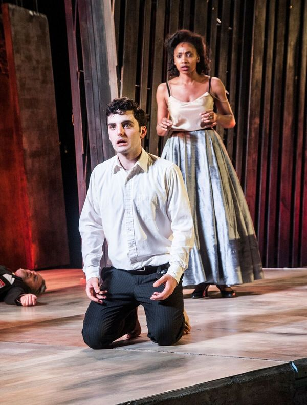 Joey Santia in the title role of Hamlet and Simone Moore as his mother Queen Gertrude Photo