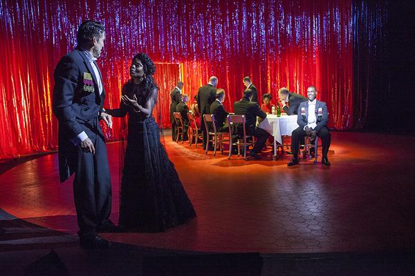 (foreground from left) Jonathan Cake as Macbeth and Marsha Stephanie Blake as Lady Macbeth
