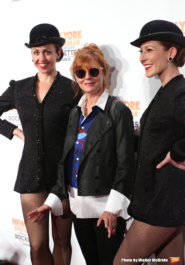 Susan Sarandon and Rockettes