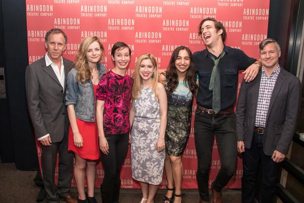 Bruce McKenzie, Lexi Lapp, Jocelyn Kuritsky, playwright Kim Davies, Dea Julien, Jack Fellows, and director Tony Speciale