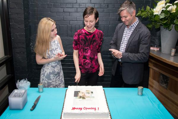 Playwright Kim Davies, Jocelyn Kuritsky and director Tony Speciale