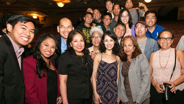 Ali Ewoldt with fans, Filipino American National Historical Society, and Knights of Rizal