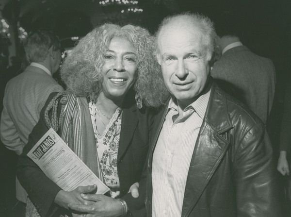 Ellen Stewart with director Peter Brook, date and photographer unknown.