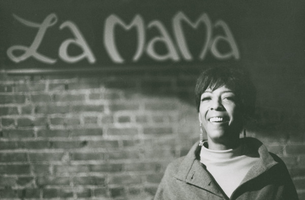 Ellen Stewart at La MaMa in the late 1960s. Photographer unknown.