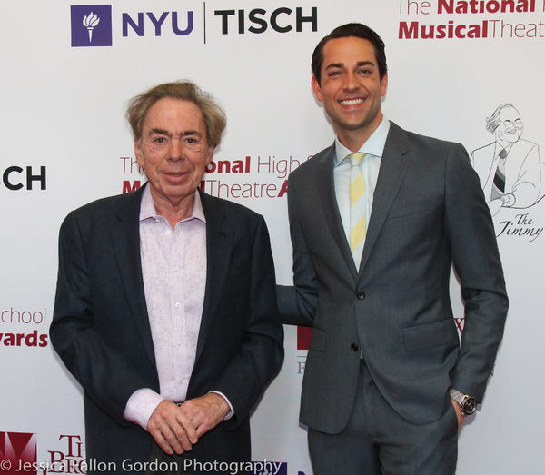 Andrew Lloyd Webber and Zachary Levi