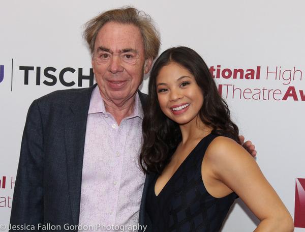 Andrew Lloyd Webber and Eva Noblezada