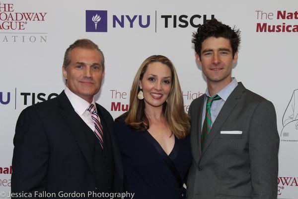 Marc Kudisch, Shannon Lewis and Drew Gehling