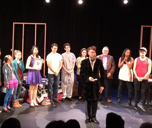 Daniel Henning with Week 2 playwrights and the cast of 2016 The Blank Theatre's Young Playwrights Festival. Photo Credit: Cassandra Hsiao