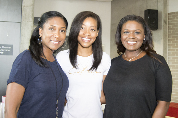 Nita Whitaker, Kiandra Richardson and Deborah Joy Winans