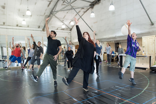 Photo Flash: In Rehearsal with New Musical GROUNDHOG DAY