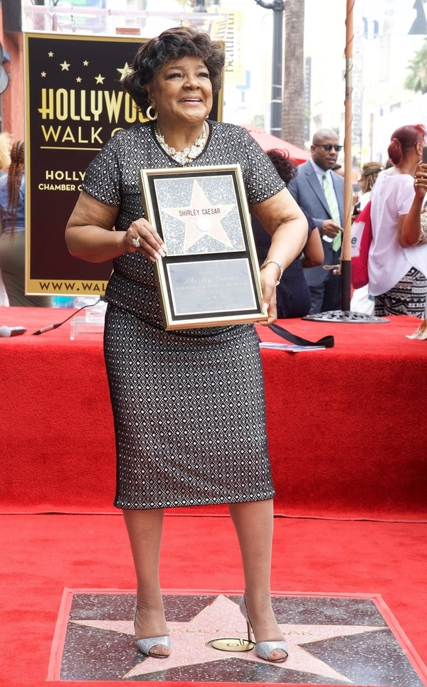 Photo Flash Shirley Caesar Honored With Hollywood Walk Of