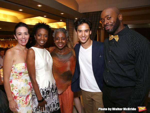 "The cast of 'Dot"", Finnerty Steeves, Sharon Washington, Marjorie Johnson, Michael Rosen and Stephen Conrad Moore"