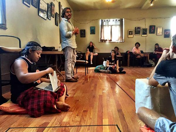 Master Playwright Octavio Solis teaching a master class (Photo credit to Curious)