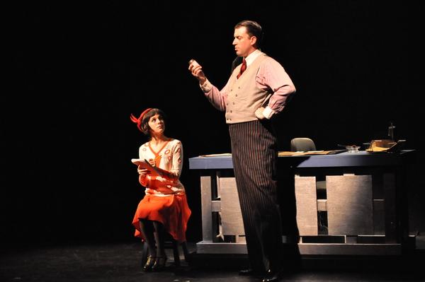 Gabi Carrubba as Millie (left) and Mark Linehan as Trevor Graydon peform 'The Speed Test'