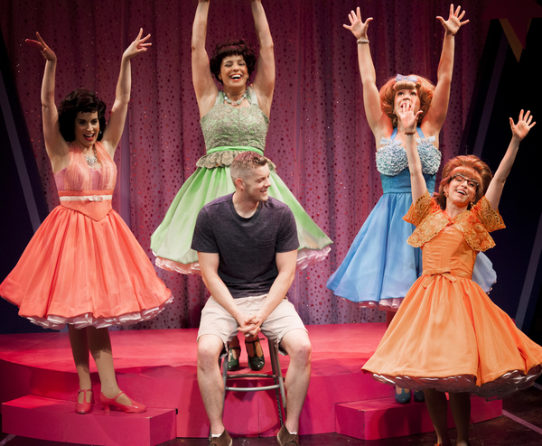 Photo Flash: Russell Tovey Visits Diana DeGarmo & Cast of THE MARVELOUS WONDERETTES