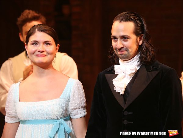 Phillipa Soo with Lin-Manuel Miranda
