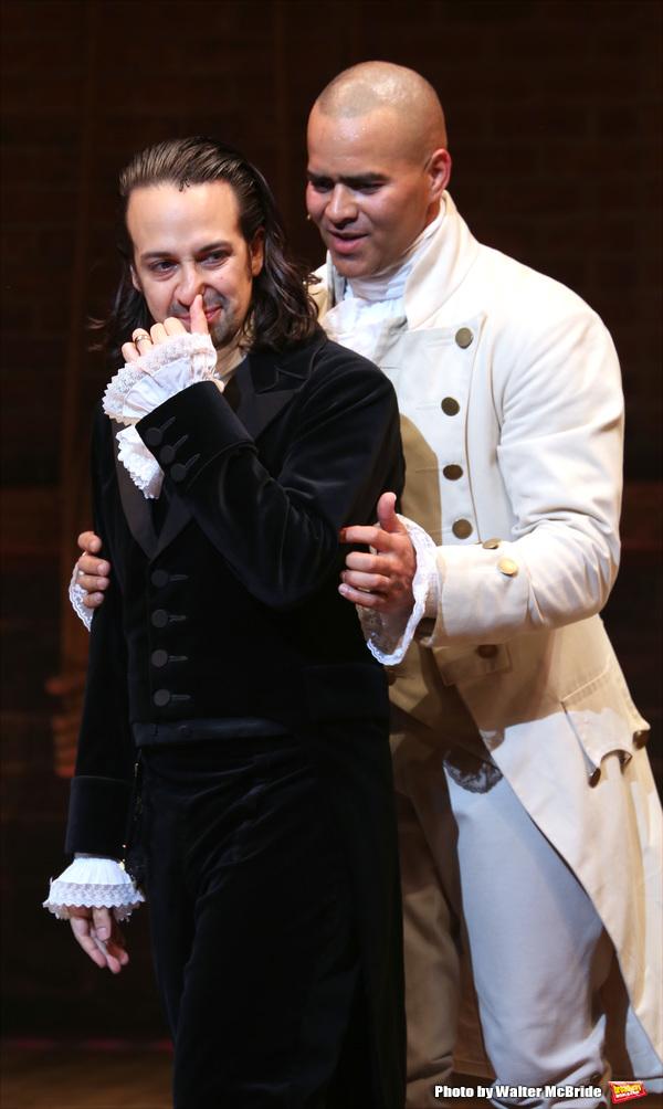 Christopher Jackson with Lin-Manuel Miranda