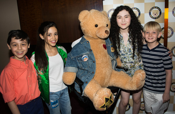 Broadway's SCHOOL OF ROCK and FUN HOME casts with Ziggy Bear and Jenna Ortega (Disney Photo