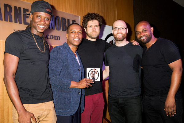 Leslie Odom Jr. with his band