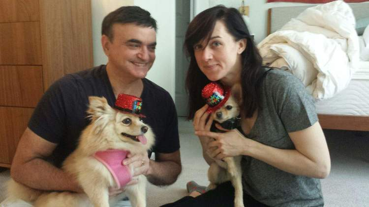 Broadways Lena Hall And Lawrence Leritz Celebrate Puppies Ziggy And