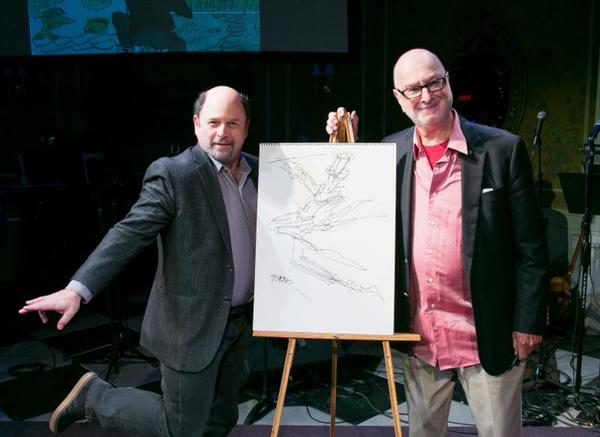 Jason Alexander and Jules Feiffer