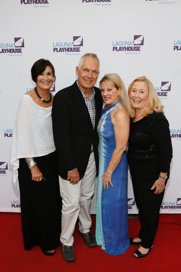 Janet Curci, Mike Nassen, Laguna Playhouse Board of Trustee Heidi Miller and Diand Mondini