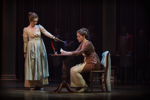Jane Austen''s (Lindsie VanWinkle) sister, Cassandra (Jennifer Evans), pushes her to  Photo