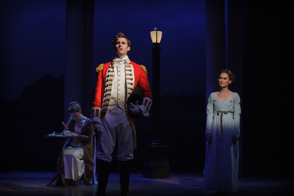 Mr. Wickham (Graydon Long) reveals his sad past to Elizabeth Bennet (Heather Botts)  Photo