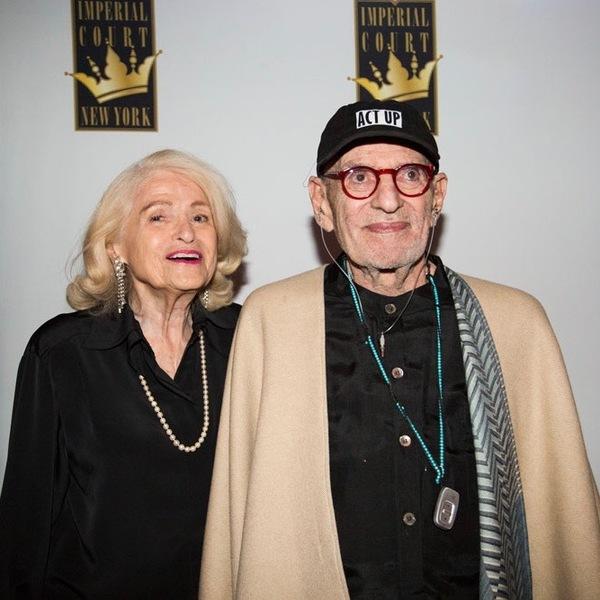 Larry Kramer and Edie Windsor