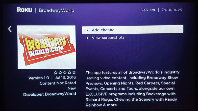 BroadwayWorld Joins Roku- Watch Our Exclusive Content Today!