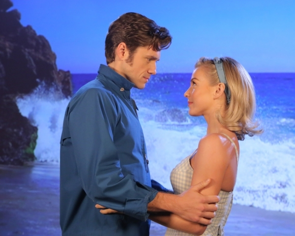 Julianne Hough and Aaron Tveit