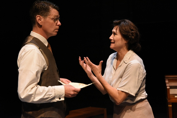 Michael Kaye (Halder) and Valerie Leonard (Helen)