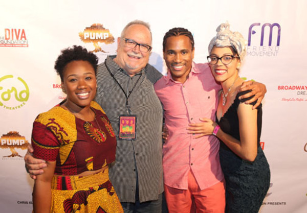 "Sha'Leah Nikole Stubblefield,  Associate Producer Ronn Goswick, Eric B. Anthony and Jenna Gillespie from the company of ""Recorded in Hollywood"""