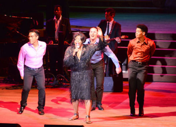 Loretta Devine with Ray Garcia, Craig Lucas and Desmond Newson Photo