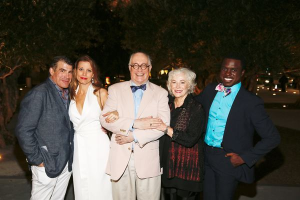 "From left, cast members Bryan Batt, Rachel York, Simon Jones, Betty Buckley and Davon Williams pose during the party for the opening night performance of ""Grey Gardens"" The Musical at Center Theatre Group/Ahmanson Theatre on Wednesday, July 13, 2016, in L"