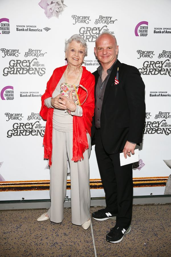 "Actress Angela Lansbury and director Michael Wilson  arrive for the opening night performance of ""Grey Gardens"" The Musical at Center Theatre Group/Ahmanson Theatre on Wednesday, July 13, 2016, in Los Angeles, California. (Photo by Ryan Miller/Capture Ima"
