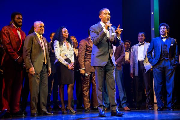Charles Randolph-Wright and the cast of Motown