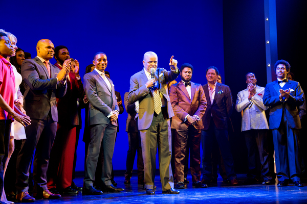 Berry Gordy and the cast of MOTOWN