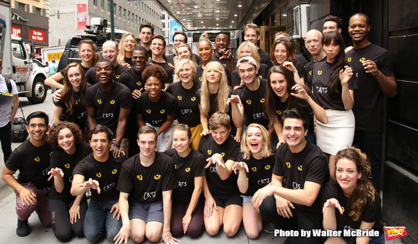 The new generation of ''Cats'' Historic cast portrait outside the  Neil Simon Theatre on July 14, 2016 in New York City.