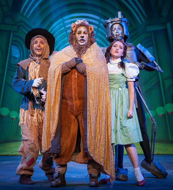 The Scarecrow (Darren Hayes), The Lion (Brian C. Rosenthal), Dorothy (Shelbie Mac), T Photo