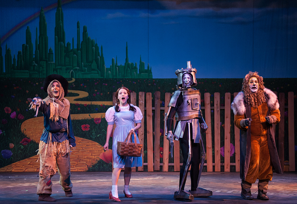 The Scarecrow (Darren Hayes), Dorothy (Shelbie Mac), The Tin Man (Matt Reed) and The  Photo