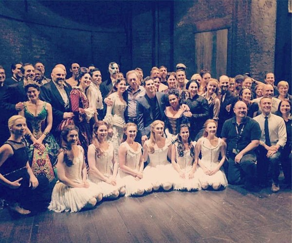 Posing for a quick photo at @PhantomOnTour w/ Andrew Lloyd Webber at the Kennedy Center