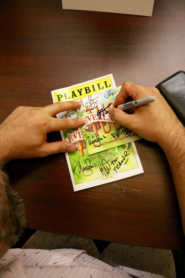 Photo Flash: Andrew Keenan-Bolger, Miller & Tysen and More Sign TUCK EVERLASTING Album at Barnes & Noble