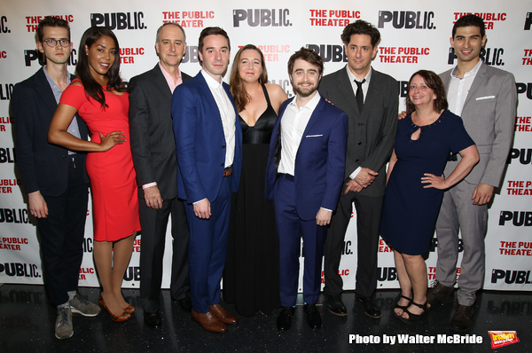Harry Davies, De'Adre Aziza, Michael Countryman, James Graham, Josie Rourke, Daniel Radcliffe, Reg Rogers, Rachel Dratch and Raffi Barsoumian