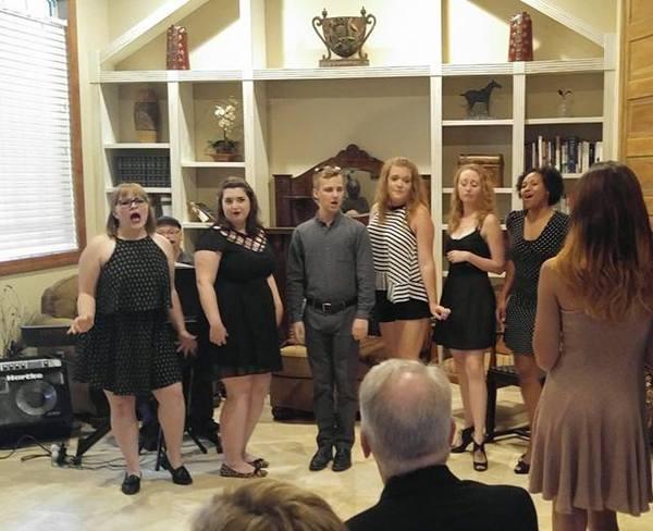 The Larry Keeton Theatre's cast of Cabaret